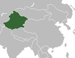 Mapa político de Xinjiang
