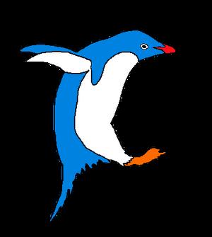 Sininen jääpingviini