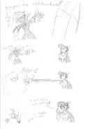 Random donna vs chaos sketch by dracodragite-d6w8f2w