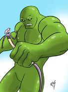 Whiplass vs green golem by koku chan-dbgcwrl