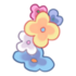 Pulsera izquierda flores jardin