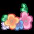 Pulsera pie de flores de jarin