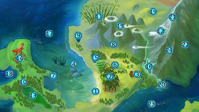 Jade Coast Map with Numbers