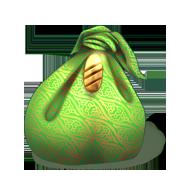 Zielona sakiewka