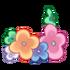Fußkette aus Gartenblumen 1
