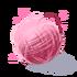 Różowy kłębek nici