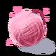 Bola rosada de hilo