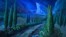 22Opuszczona ścieżka-noc