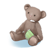 Geflickter Teddy