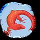 Czerwona jaszczurka