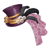 Kapelusz Victorian Doll2