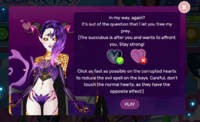 Valentine's Day 2018 Succubus Mini-game Instructions