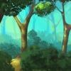 Tło-forest