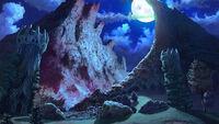 Sentier de la grotte (nuit)