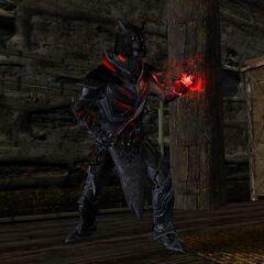 Urjorahn in his Daedric Armor
