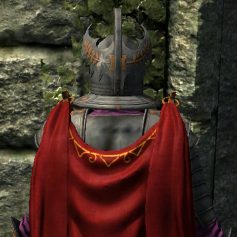 Emperor's Armor from the back, with cape