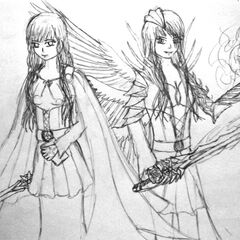 Isis (left) and Eris (right) redone with a new art style.