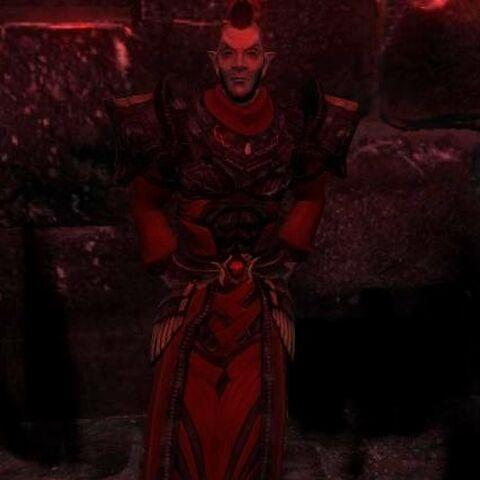Velar in his Garments