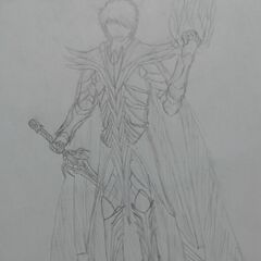 Another attempt to draw Siris' armor and sword.