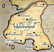 Valenwood map Oblivion