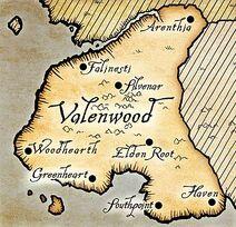 Valenwood map Oblivion