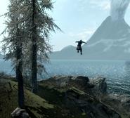 Wizard Falling from Flight