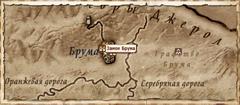 Замок Брума. Карта