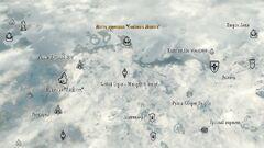 Место крушения «Солёного молота» - карта