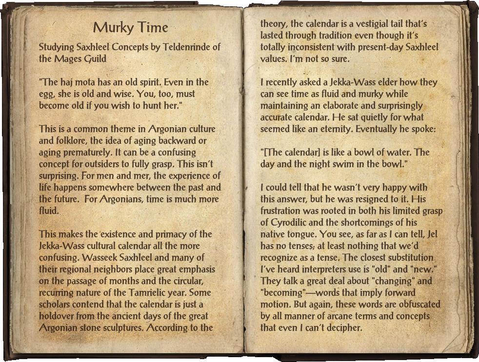 Murky Time | Elder Scrolls | FANDOM powered by Wikia