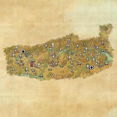Дешаан-Дорожное святилище Холмов Мут Гнаар-Карта