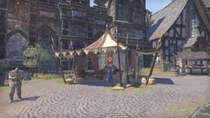 Торговец у рыночной площади