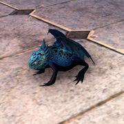 Голубая оазисная лягушка-дракон