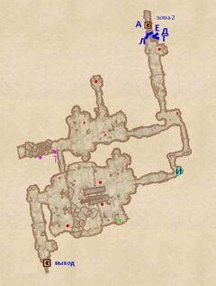 Пещера Окольный путь. План
