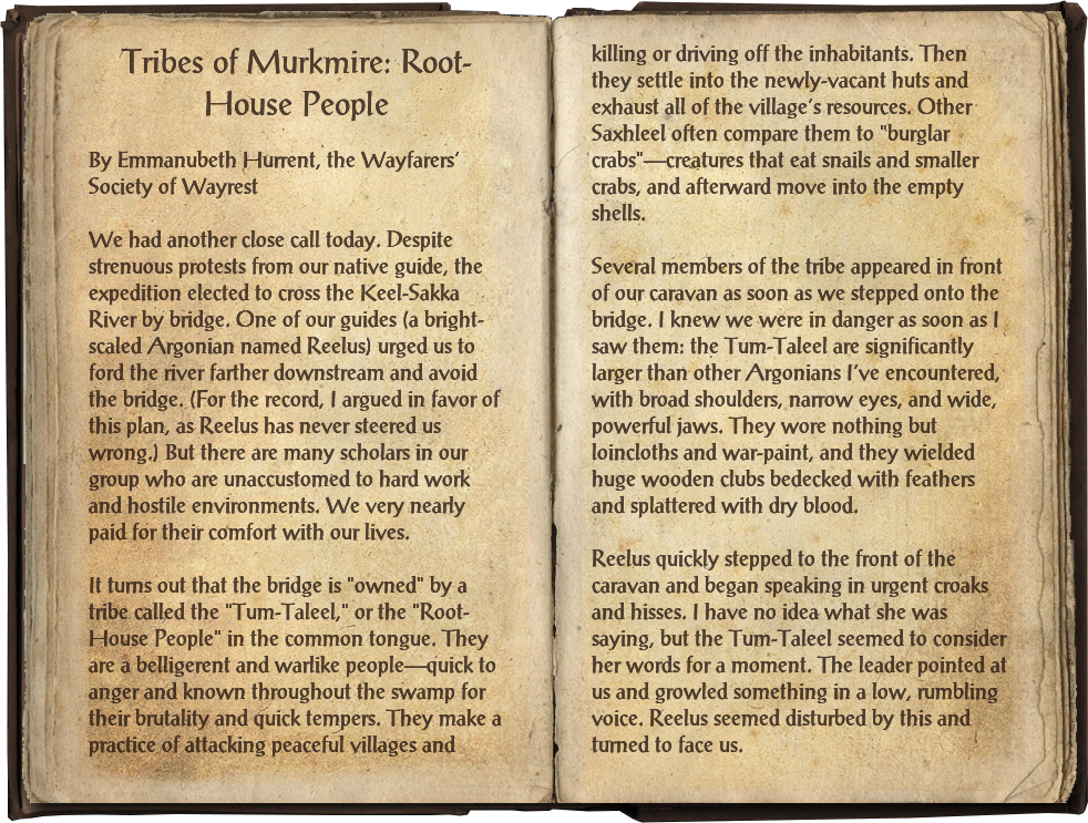 Tribes of Murkmire: Root-House People | Elder Scrolls