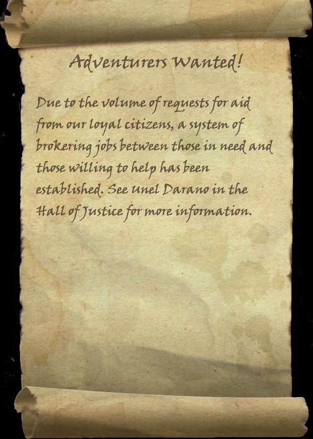 Adventurers Wanted Elder Scrolls Fandom Powered By Wikia