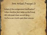 Iron Wheel Precept 21