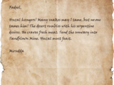Letter to Fadeel