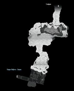 Каприз Иафета - морская пещера - план