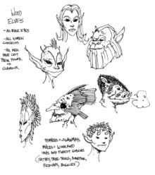 Leśne elfy (Conceptart) by Michael Kirkbride