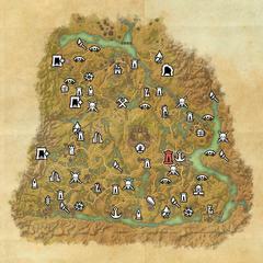 Шедоуфен-Дорожное святилище Альтен-Коримонта-Карта