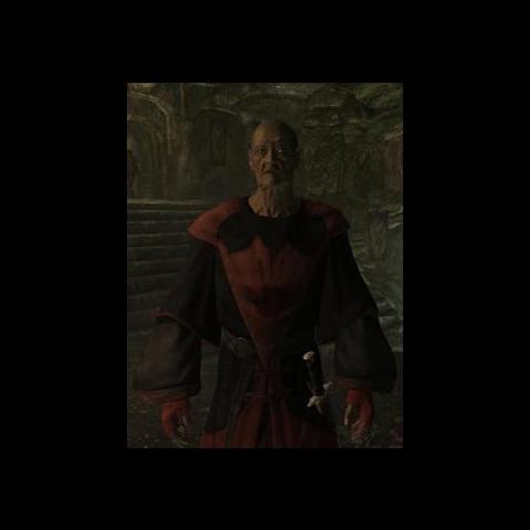 Festus Krex noszący tą szatę