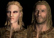 Wanita dan pria Nord dalam --The Elder Scrolls V--