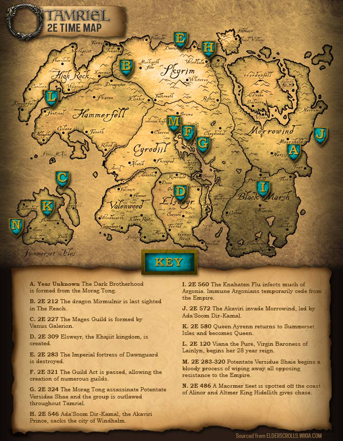ElderScrolls2ndEraMap User blogTheBlueRogue2nd Era Timeline Map
