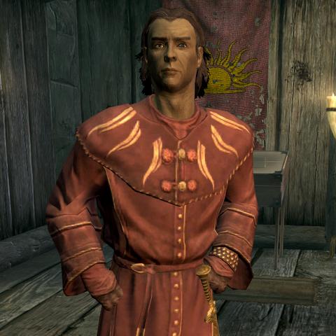 Silus, jeden z członków Mitycznego Brzasku w Skyrim