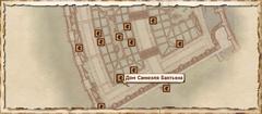 Дом Самюеля Бантьена. Карта