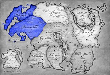 Alleanza di Daggerfall mappa