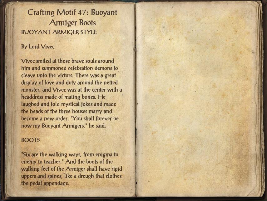 Crafting Motif 47: Buoyant Armiger Style | Elder Scrolls