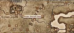 Пещера Жёлтый Клещ - карта
