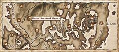 Чертог Костяной нарост. Карта