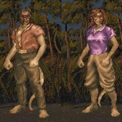 Khajiici odmiany Ohmes-raht z gry The Elder Scrolls II: Daggerfall